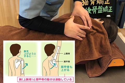 肩甲骨関節モビライゼーション(肩の補助関節の改善)